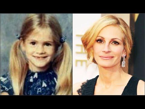 Джулия Робертс в детстве,в молодости и сейчас