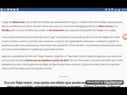 Baleia Azul-Noticiario do Brasil e o mundo 1!