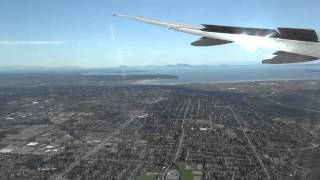 Cathay Pacific Boeing 777, landing Vancouver Airport, Canada