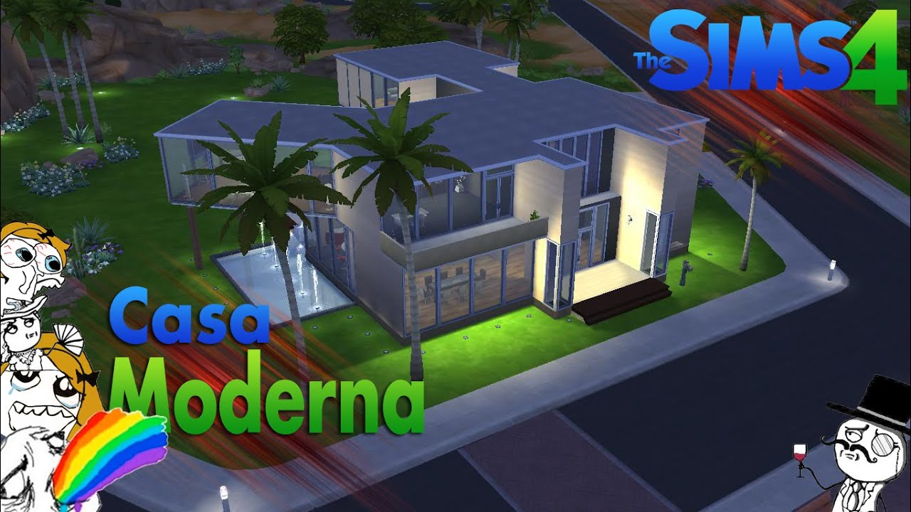Los sims 4 review nueva casa moderna descarga youtube for Casas modernas sims 4 paso a paso