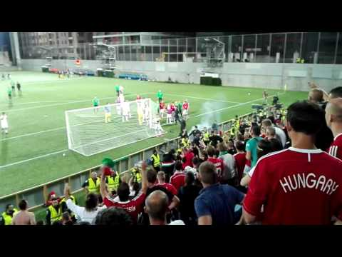 Meccs utáni jelenetek -  Szurkolók vs Játékosok - Andorra vs Magyarország 1-0 +18