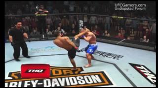 UFC 2009 Undisputed - Fake Front Kick to Head Kick KO
