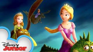 Sofia Meets Rapunzel! 👱♀️| Sofia the First | Disney Junior