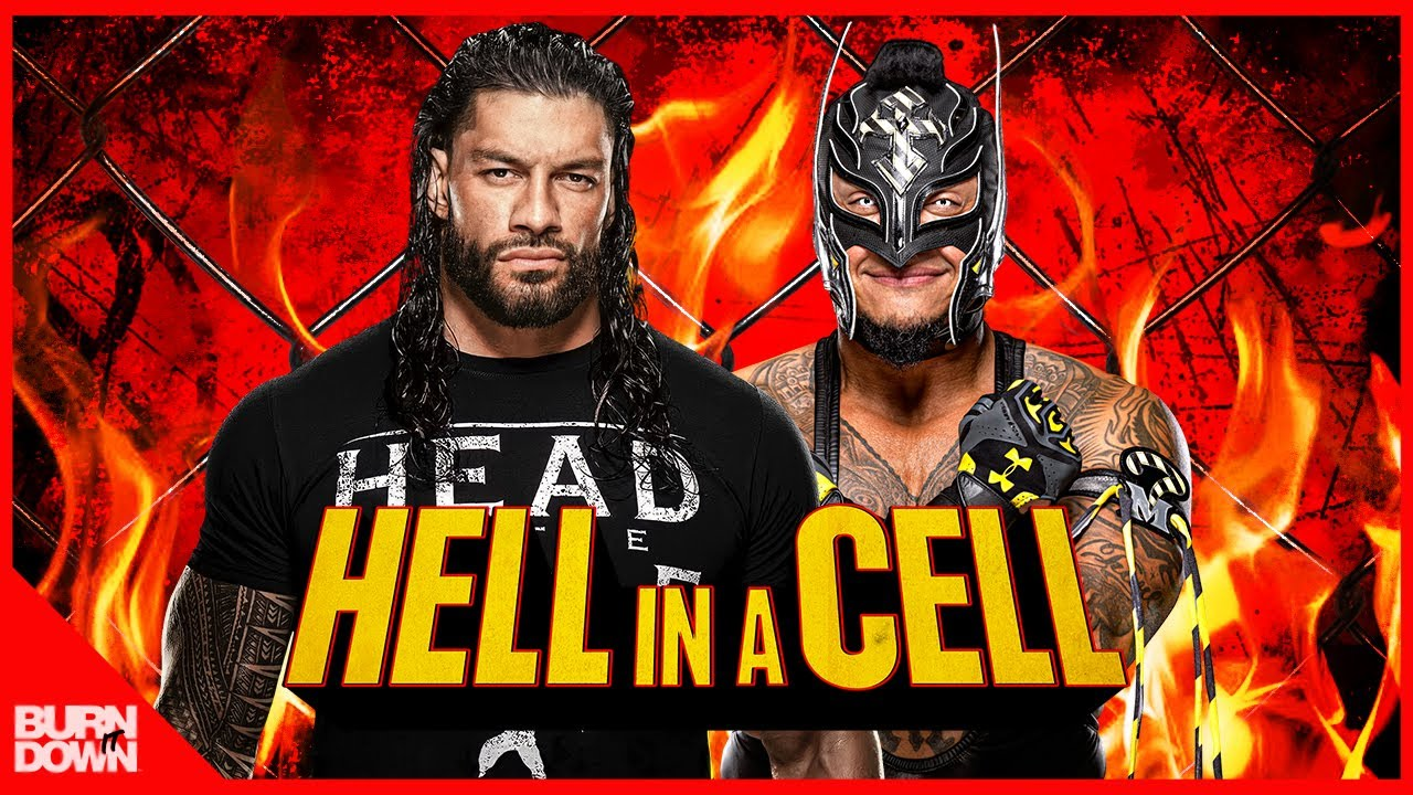 WWE ROMAN REIGNS VS REY MYSTERIO - HELL IN A CELL 2021