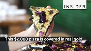 This $2,000 pizza is covered in real gold