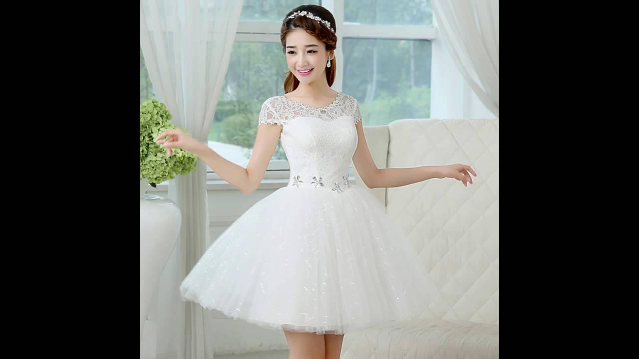 e1d91fa16 los vestidos blancos mas hermosos - YouTube