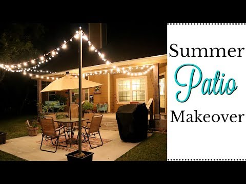 DIY SUMMER PATIO MAKEOVER | OUTDOOR RETREAT | PATIO LIGHTING