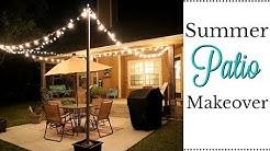DIY SUMMER PATIO MAKEOVER   OUTDOOR RETREAT   PATIO LIGHTING