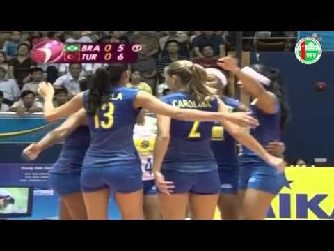 Brazil vs Thổ Nhĩ Kỳ Bóng chuyền nữ thế giới Grand Prix 2008 | FULL