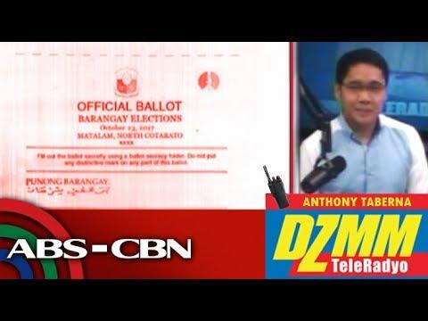 'Balota sa Luzon, Visayas, nakaimprentang petsa ay October 2017'