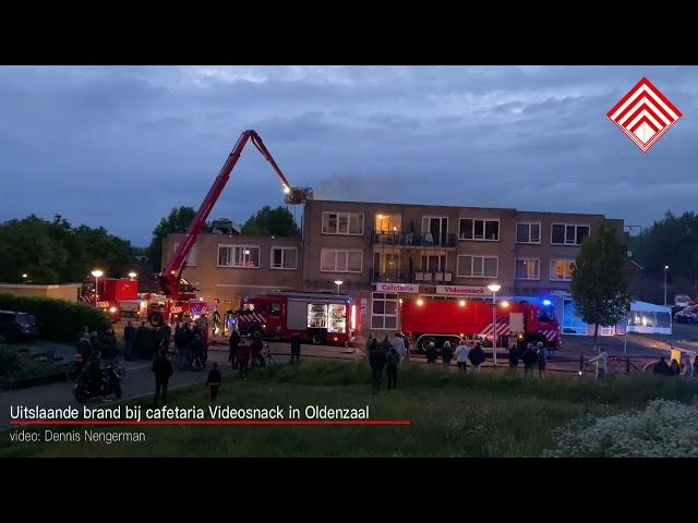 Uitslaande brand bij cafetaria Videosnack in Oldenzaal