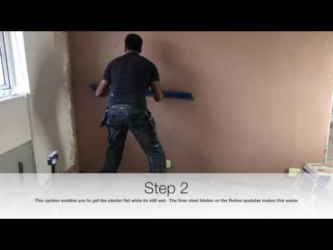 Plastering - Skimming,  one coat sponge