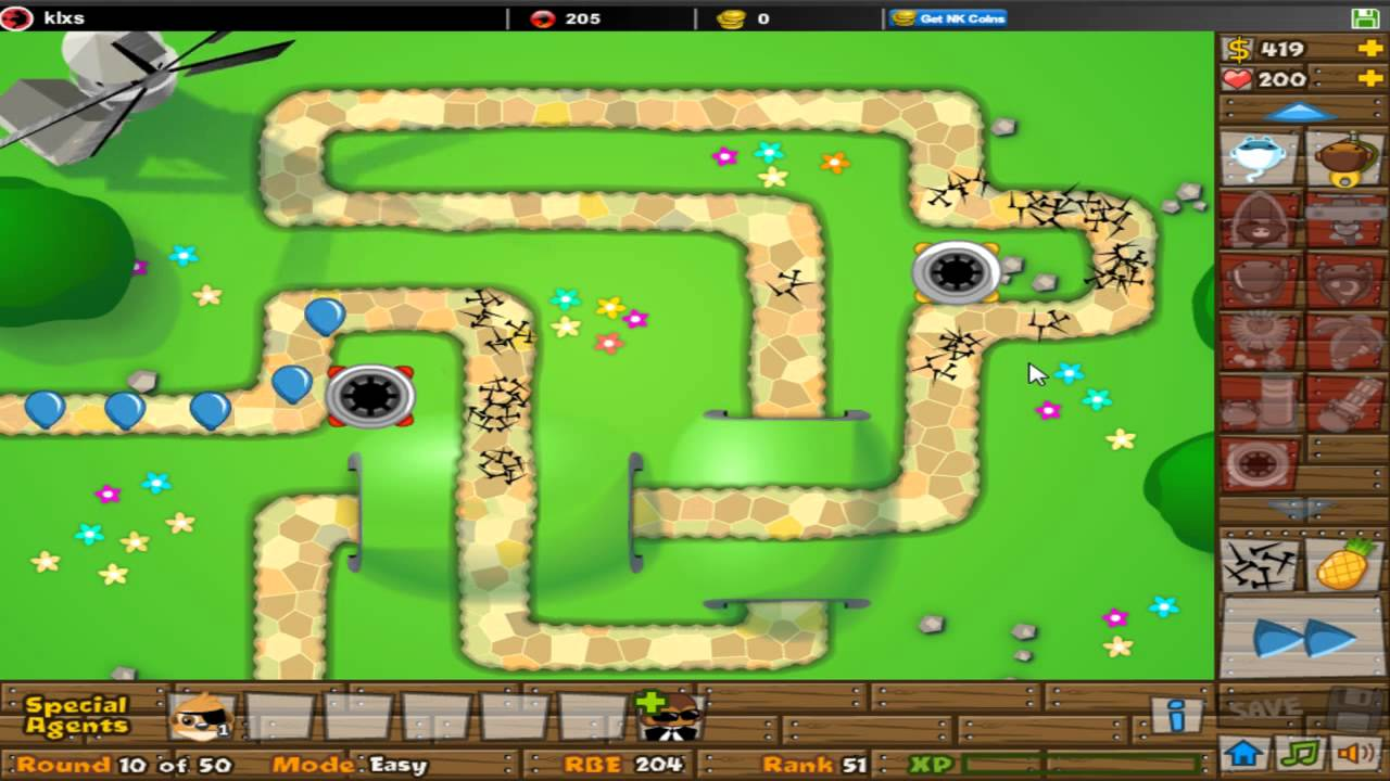 Bloons Tower Defense 5 Spike Factory + All Upgrades - YouTube
