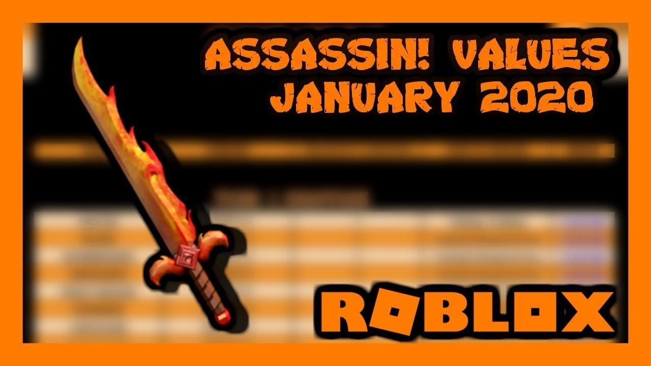 Roblox Assassin Value List 2020 May Roblox Assassin Values January 2020 Zickoi Youtube