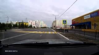 Голуби переходят дорогу