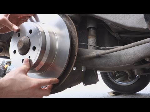 How to replace Brake Rotor Volvo, V70,S70,240,850 etc.