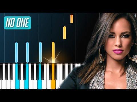 "Alicia Keys - ""No One"" (NO.1 HIT 10 YRS AGO!!) Piano Tutorial - Chords - How To Play - Cover"