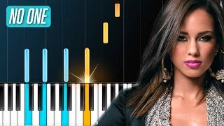"Alicia Keys - ""No One"" (NO.1 HIT 10 YRS AGO!!) Piano Tutorial - Chords - How To Play - Cover"