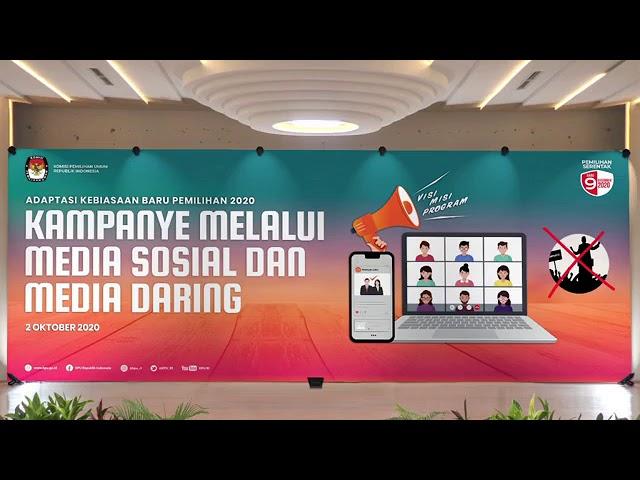 (Webinar) Adaptasi Kebiasaan Baru Pemilihan 2020 Kampanye melalui Media Sosial dan Media Daring