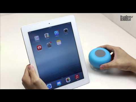 Bluetooth Waterproof Shower Speaker BTS-06 Review from GearBest.com