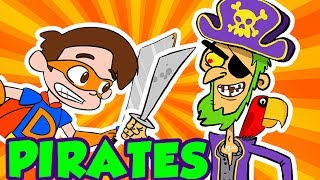 Pirate Adventures! Peter Pan, Treasure Hunts, Parrots, and More! | Cool School Compilation