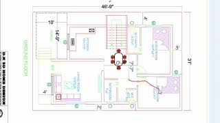 31x47 ft INDIAN HOUSE PLAN