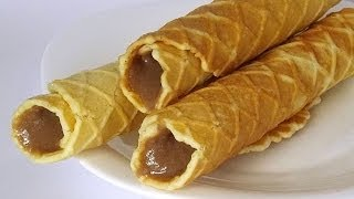 Вафли Марсельские с Какао-Кремом кулинарный видео рецепт(Вафли называются «Марсельскими», однако какое отношение они имеют к Марселю, мне выяснить не удалось☺...., 2014-04-07T11:12:21.000Z)