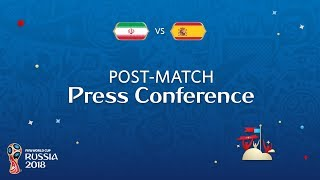 FIFA World Cup™ 2018: IR Iran v. Spain - Post-Match Press Conference