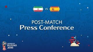 FIFA World Cup™ 2018: IR Iran v. Spain - Post-Match Press Conference