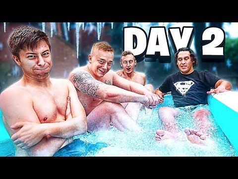 Last to Leave FREEZING ICE BATH Wins $10,000 - Challenge