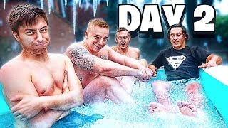 Download Last to Leave FREEZING ICE BATH Wins $10,000 - Challenge Mp3 and Videos