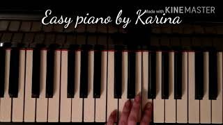 How to Play Carol of the Bells on piano Как играть Щедрик Easy Piano by Karina ВидеоРазбор