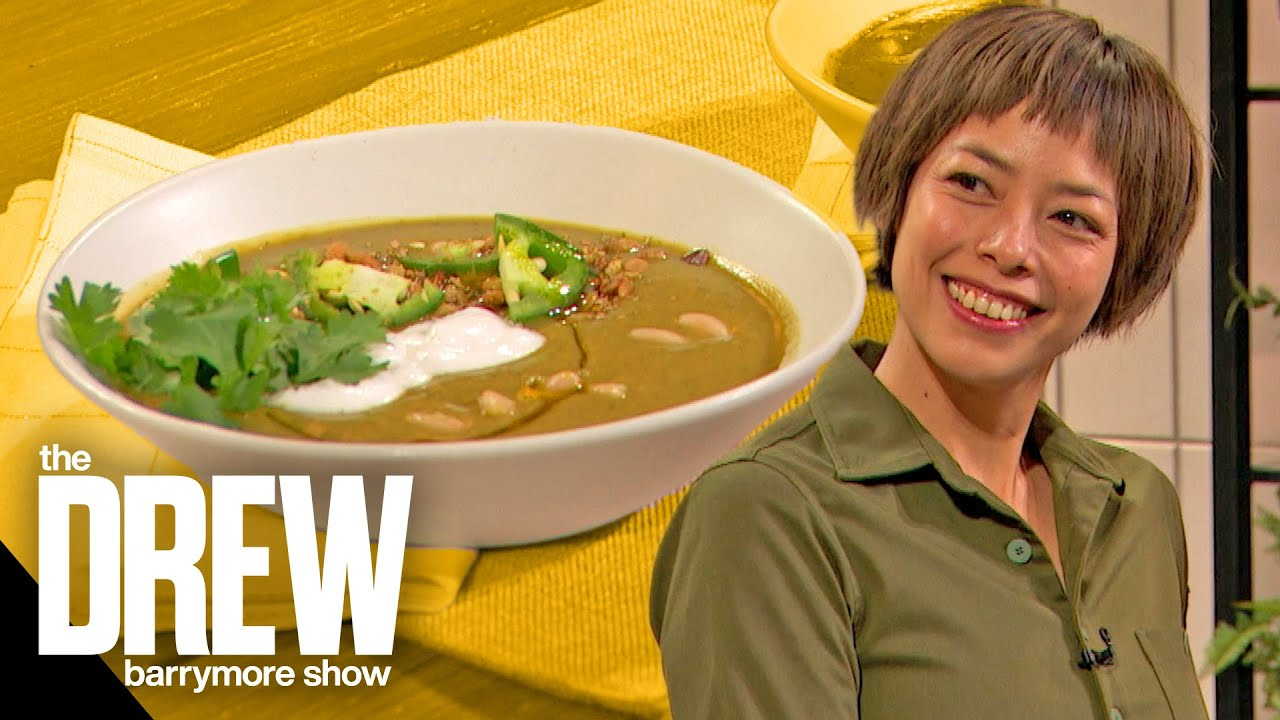 How to make Drew Barrymore and chef Pilar Valdes' tomatillo soup ...