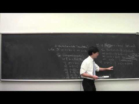 Math 101 Introduction to Analysis 091415: Fields, Ordered Fields