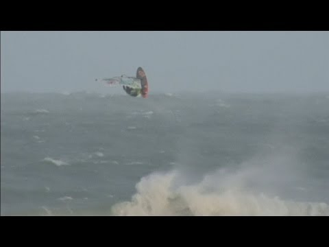 Red Bull Storm Chase 2014: Windsurfers complete ddevil stunts in stormce conditions