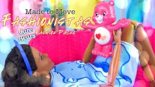 DIY - How to Make: Custom Made to Move Barbie Fashionista PLUS Care Bears Fashion Packs