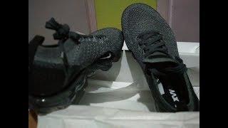 big sale 12c54 4ee00 WNMS Nike Air Vapormax Flyknit - Dark Grey Black Wolf Grey- Sneakers (23
