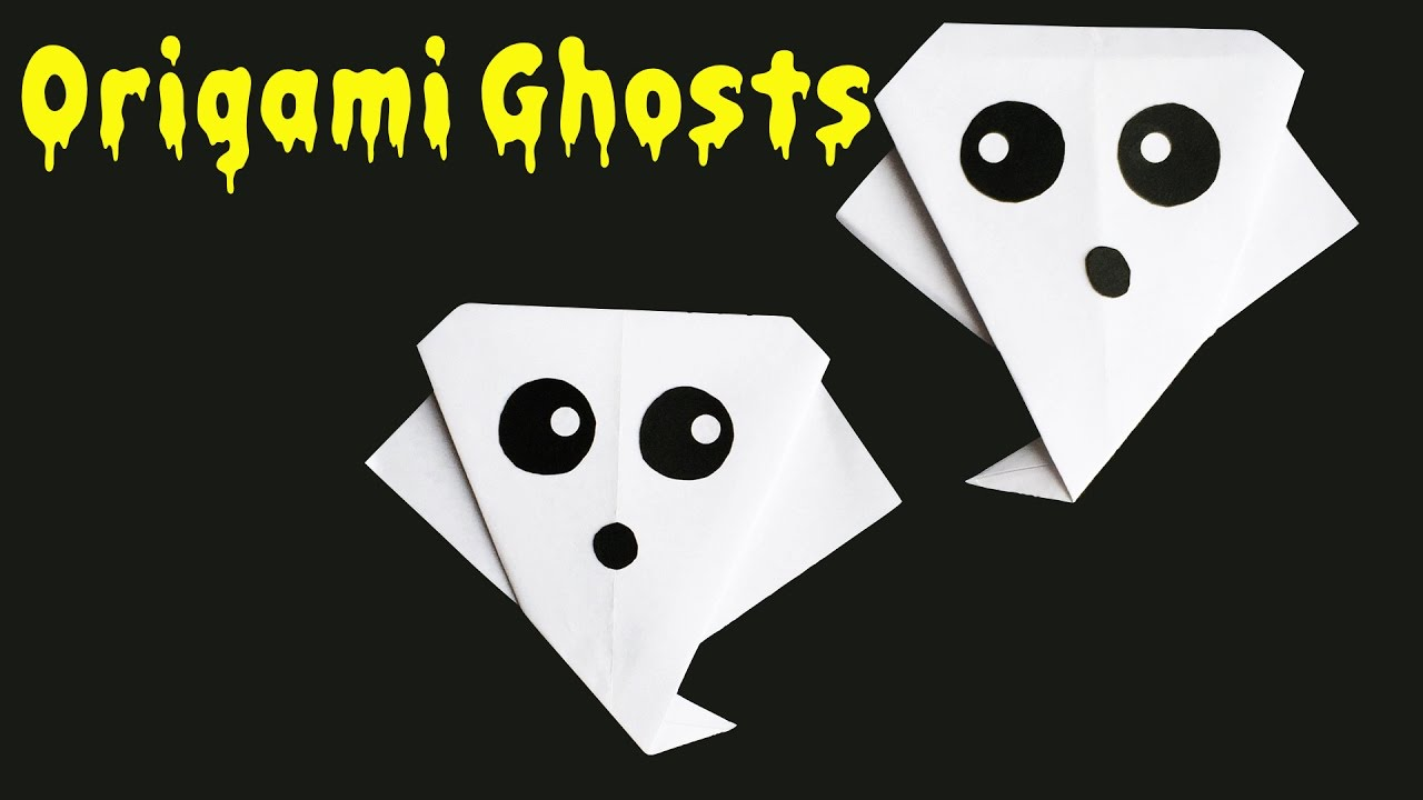 How to make an origami ghost youtube how to make an origami ghost jeuxipadfo Choice Image