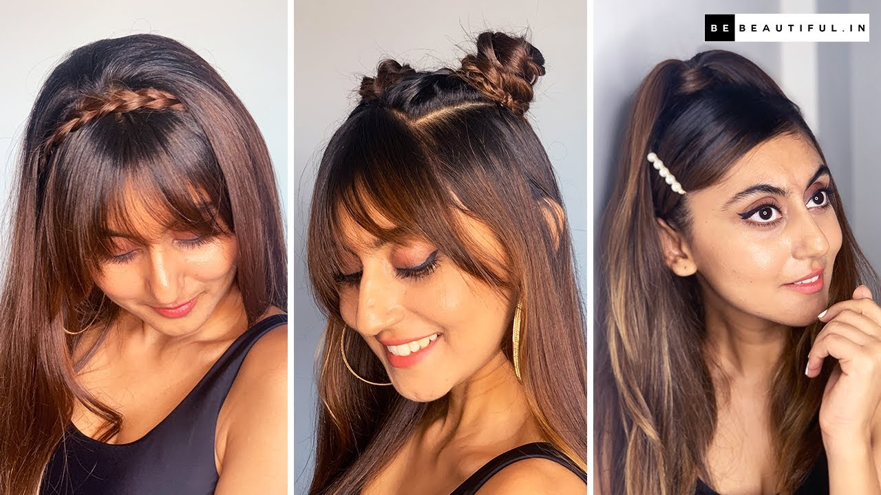 Hairstyles With Bangs | Cute Hairstyles With Fringe For Long Hair | Hair Tutorial | Be Beautiful
