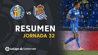 Resumen de Getafe CF vs Real Sociedad (2-1)