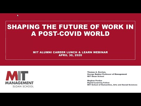 Career Lunch & Learn: Shaping Work Of The Future In A Post-COVID World