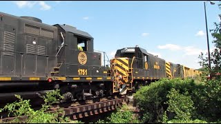 Grafton and Upton RR, Action in Hopedale MA! (7/21/14)