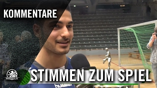 K.Bornfleth (VfB Hermsdorf) & B.Mentes (Hertha 03) - Stimmen zum Spiel   SPREEKICK.TV