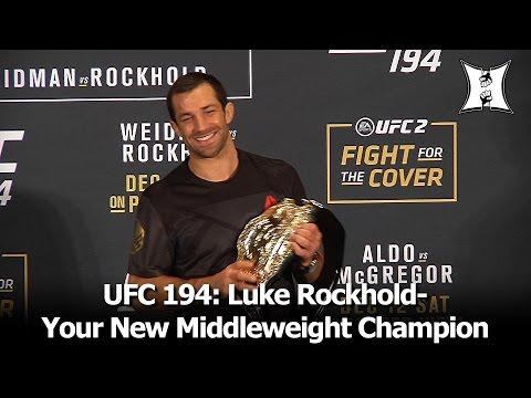 "UFC 194: Champ Luke Rockhold Talks Weidman TKO, Bad Camp; Wants ""Belfort On A Silver Platter"""