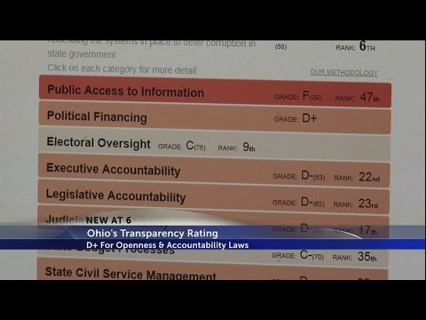 Ohio receives low grade for state government transparency