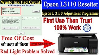 Download How To Resetting Service Printer Epson L3110 L3150 Free