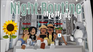 Mom of 4 Night Routine WITH FANS♡ | Roblox Bloxburg | iiarabellaa