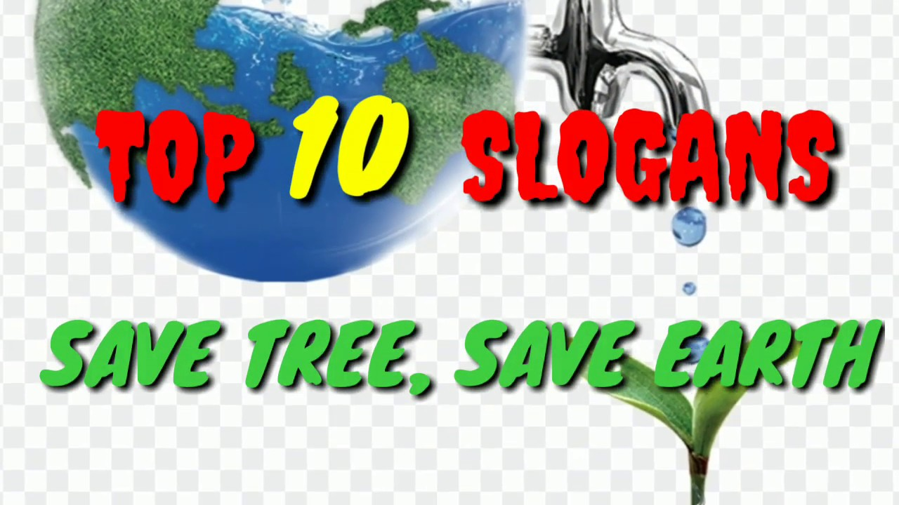 Save Tree Save Earth Status Top 10 Slogans Youtube