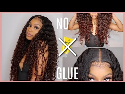 no-glue!!-melted-my-6x6-transparent-closure-install,-styling-&-color-tutorial!-|-babyheir-collection