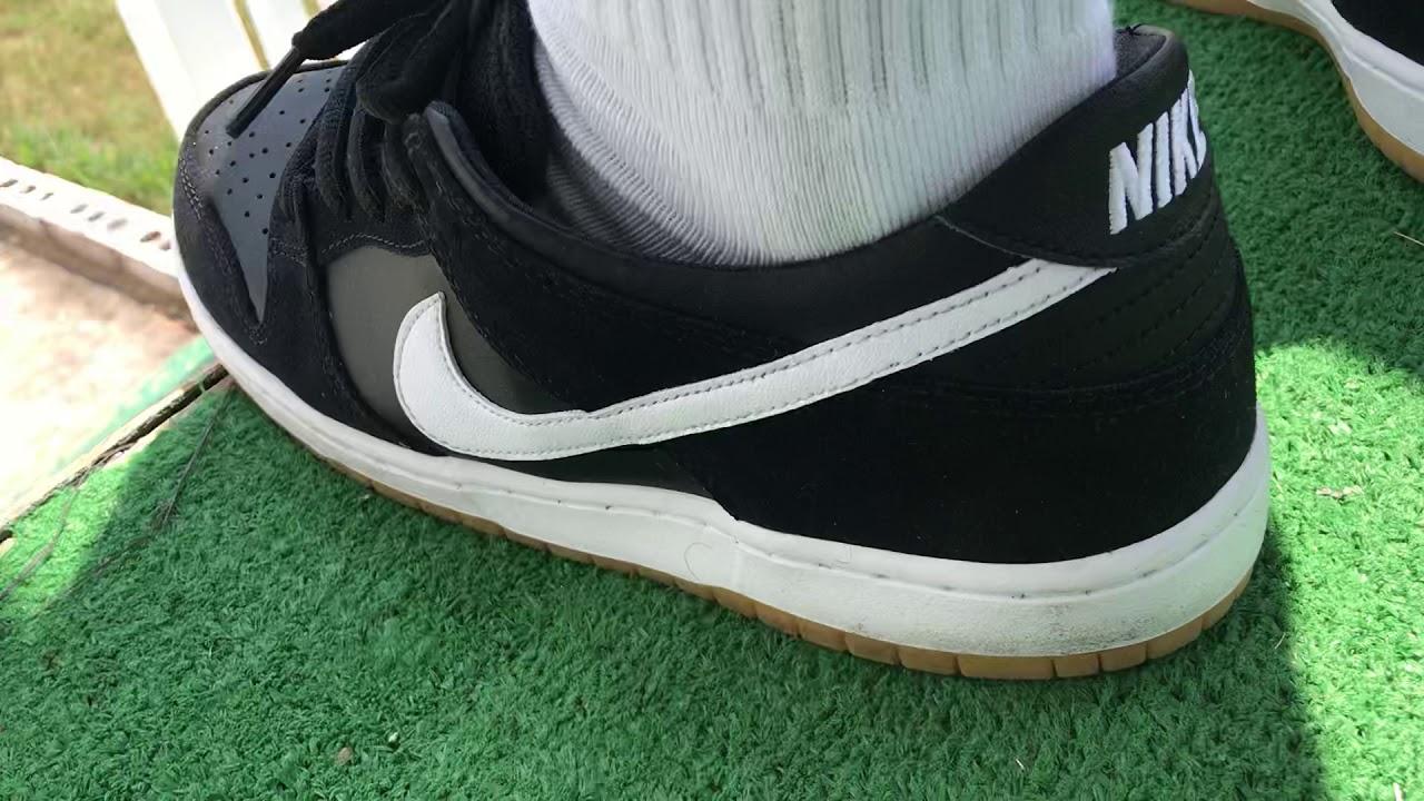 Nike SB Dunk Low Pro Black/White/Gum On